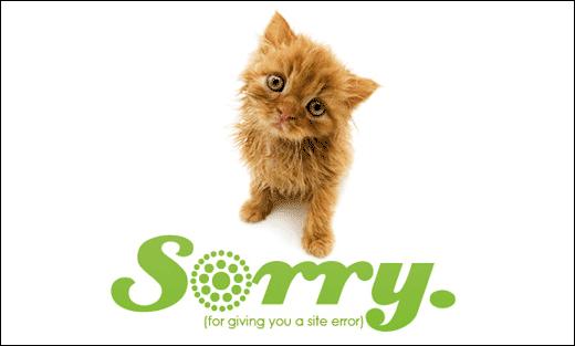 Sympatická chybová stránka 404