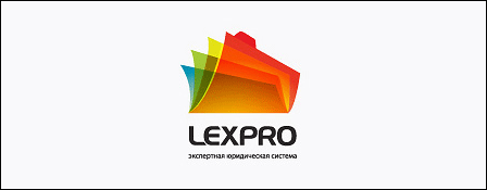Logo společnosti LEXPRO využívající průhlednost