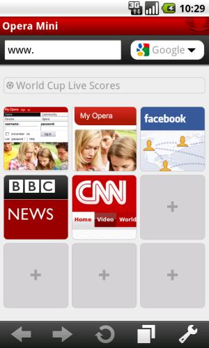 Opera Mini 5.1 pro Android