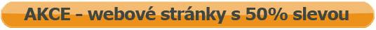Akce – webové stránky s 50% slevou!