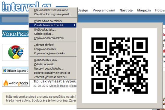 Doplněk Mobile Barcoder