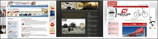 Ukázky webů vytvořených v inPage