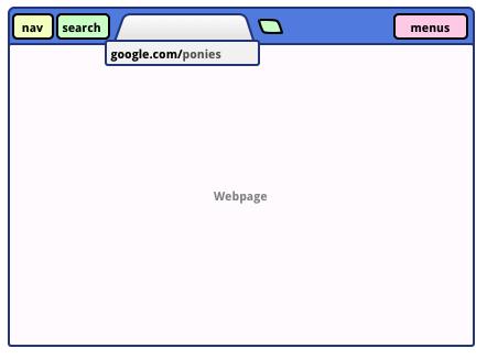 Návrh Chrome bez adresního řádku