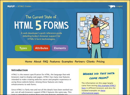 Formuláře HTML 5