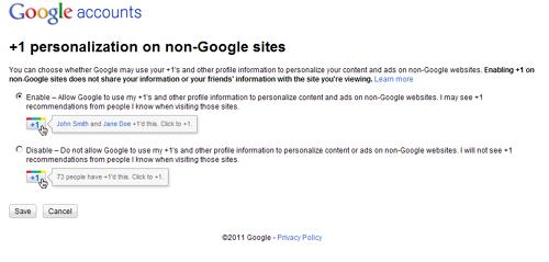Může Google používat +1 k personalizaci reklamy?