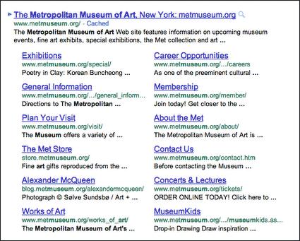 Nová podoba Google Sitelinks