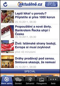 Aplikace pro aktualne.cz