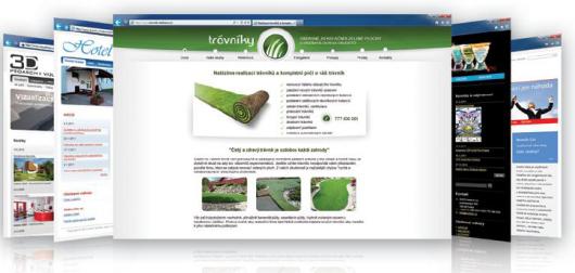 Ukázka webových stránek v inPage
