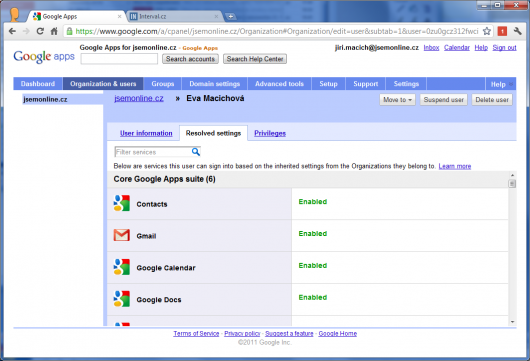 Screenshot - Google Apps