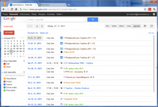 Screenshot - Google Calendar