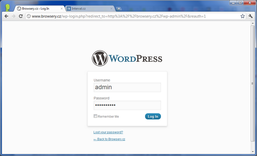Screenshot - WordPress