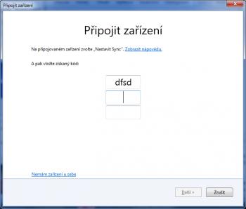 Mozilla Firefox - ochrana synhronozačního účtu