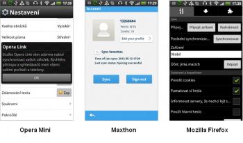 Synchronizace v mobilních prohlížečích