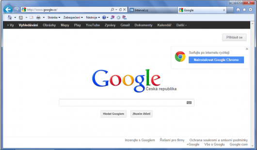 Google popraguje Google Chrome