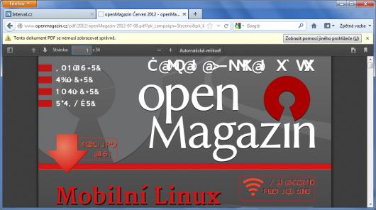 Firefox 15 Beta - PDF prohlížeč