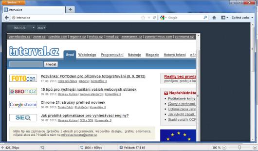 Firefox 15 Beta - Responsive Mode
