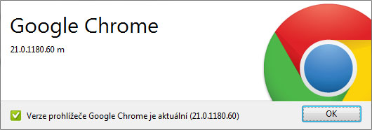Aktuální verze prohlížeče Chrome