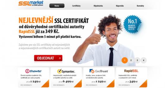 sslmarket.cz - certifikáty levně, rychle, důvěryhodně