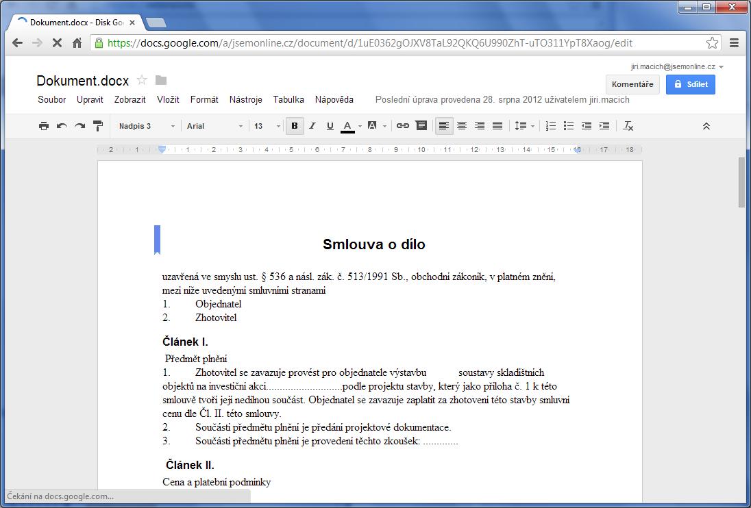 Cloudová Kancelář Google Vs Microsoft Intervalcz - Google dokument