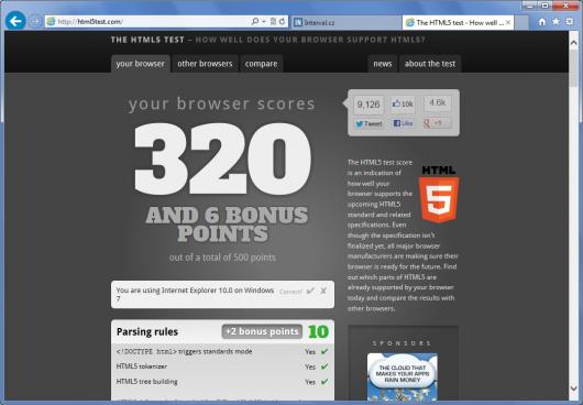 Internet Explorer 10 - HTML 5