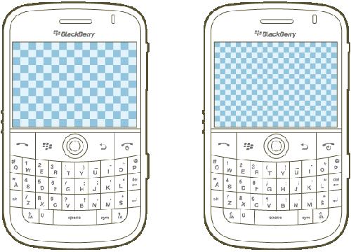 Dva displeje mobilních telefonů