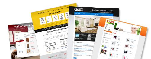 Ukázky webových stránek v inPage