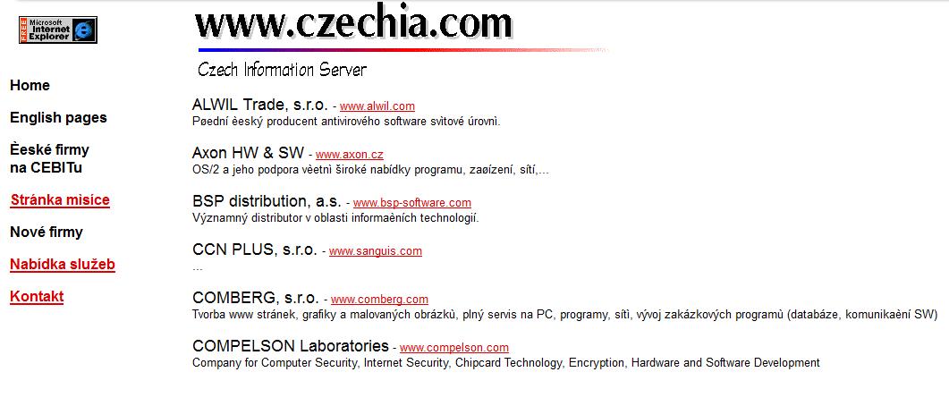 nejstarší screen czechia.com
