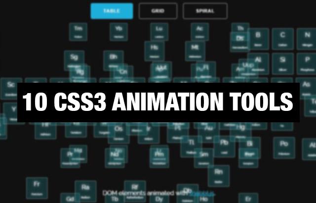 Animační nástroje pro CSS3