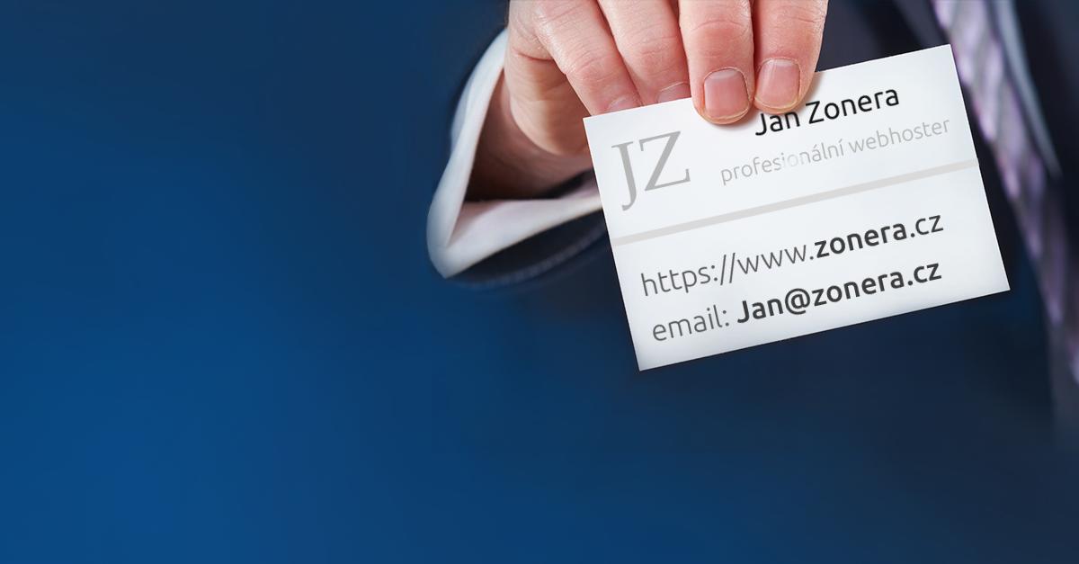 Buďte profesionální díky vlastníu unikátnímu e-mailu